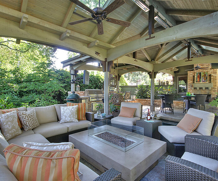 Outdoor Living Space Gorgeous Outdoor Living Spaces Outdoor Kitchen Design  Gayler Design Review