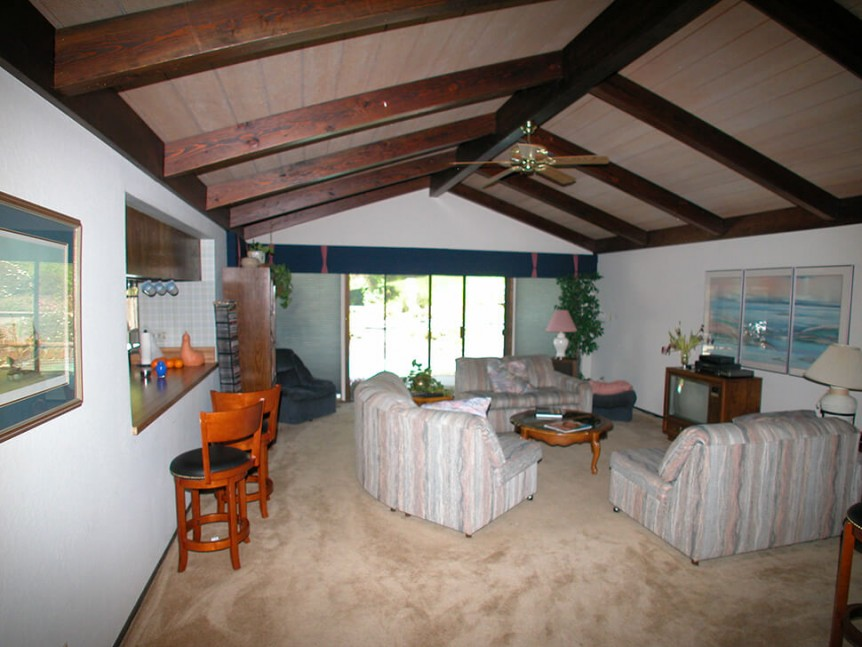 Living room before renovation in Alamo, CA kitchen remodel