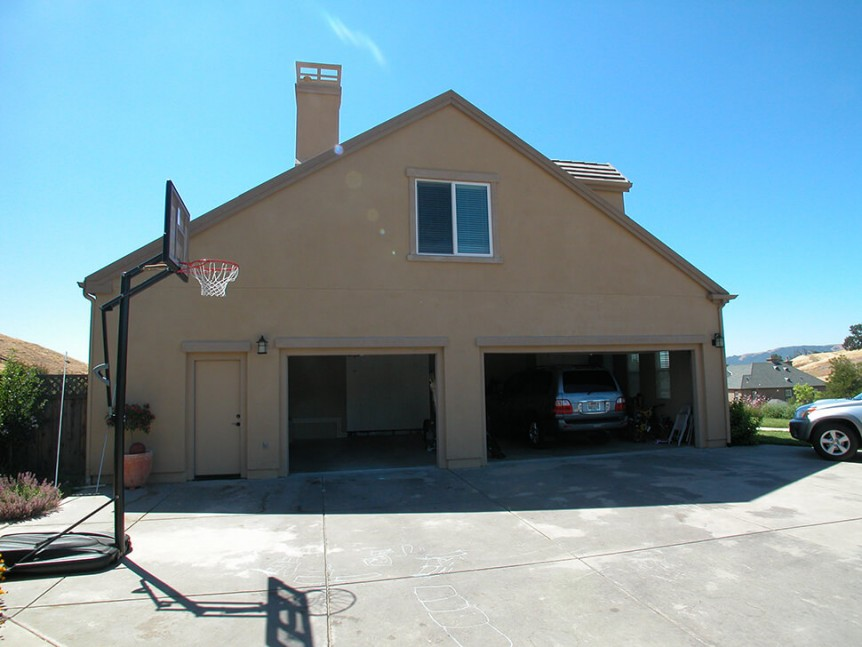 Before photo of garage & bedroom addition in Alamo, CA