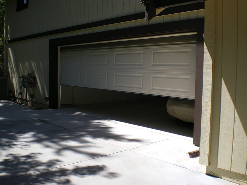 Before photo of Alamo, CA custom garage addition