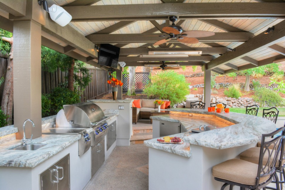 Outdoor Kitchen & Living Space Remodel in Alamo | Gayler Design