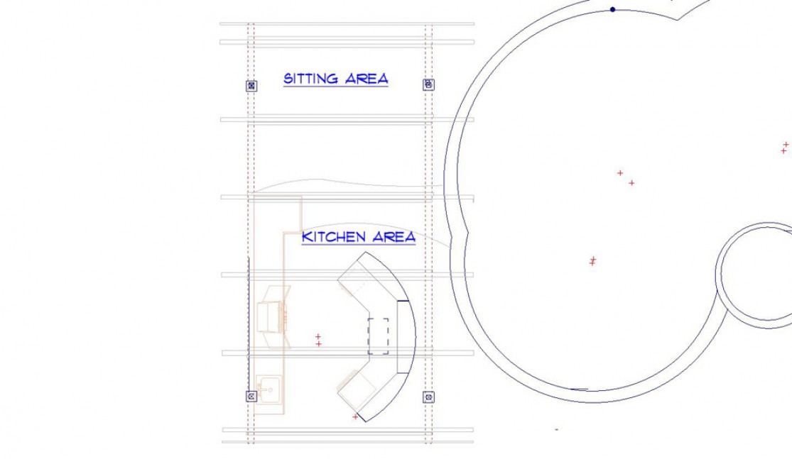 Outdoor kitchen floor plan in Alamo, CA outdoor kitchen and living space remodel