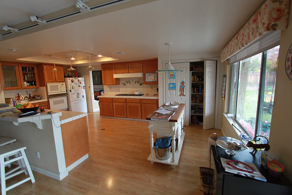Before picture of Danville, CA transitional kitchen remodel