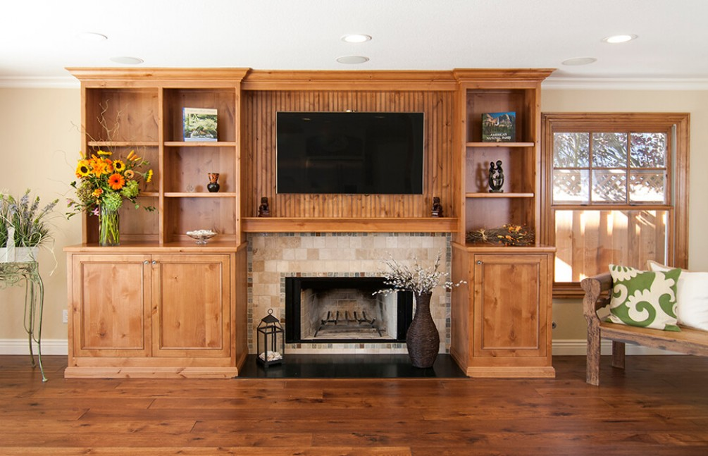 Custom entertainment and media center built-in in Danville, CA remodel