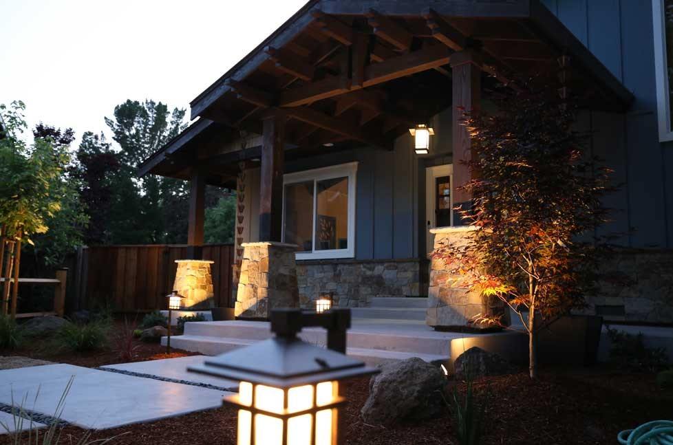 New exterior lighting adds both ambiance and safety
