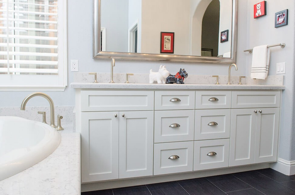 Bathroom vanity in Danville, CA contemporary whole house remodel