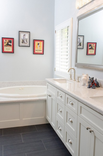 Bathroom vanity and tub in Danville, CA contemporary whole house remodel
