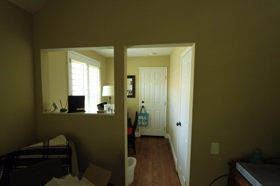 Before photo of master bedroom seating area in Danville, CA Whole House Remodel & Addition