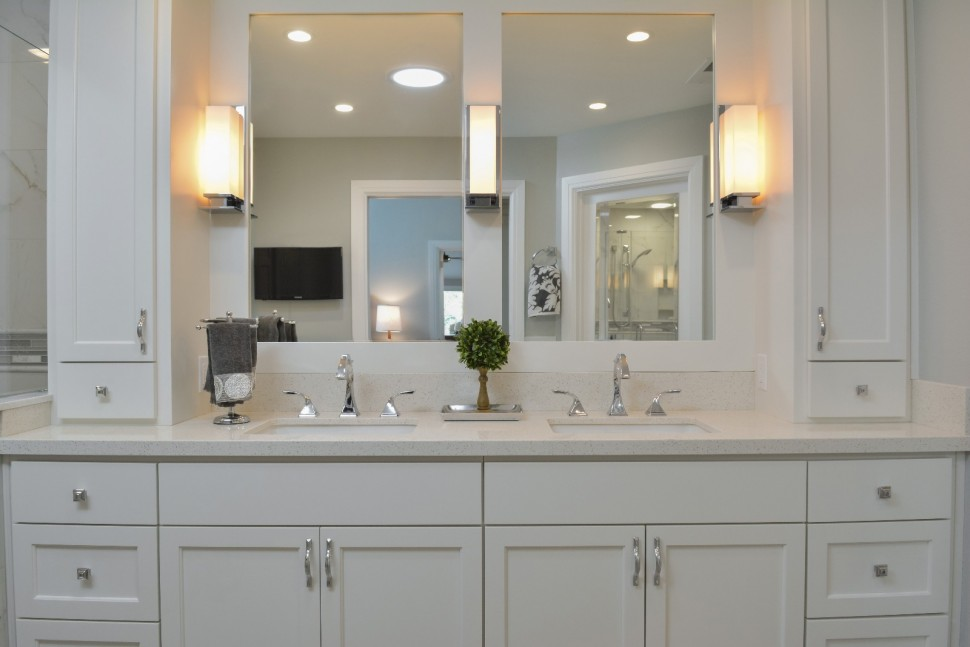 Master bathroom double vanity in Danville, CA Whole House Remodel & Addition
