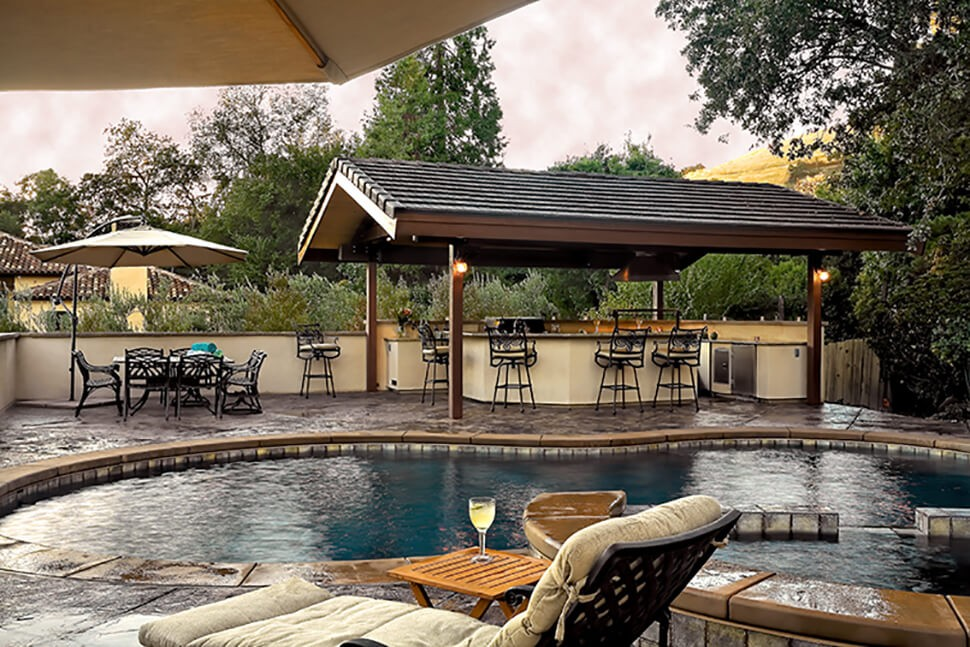 Covered Outdoor Kitchen & Living Space Remodel in Diablo ...