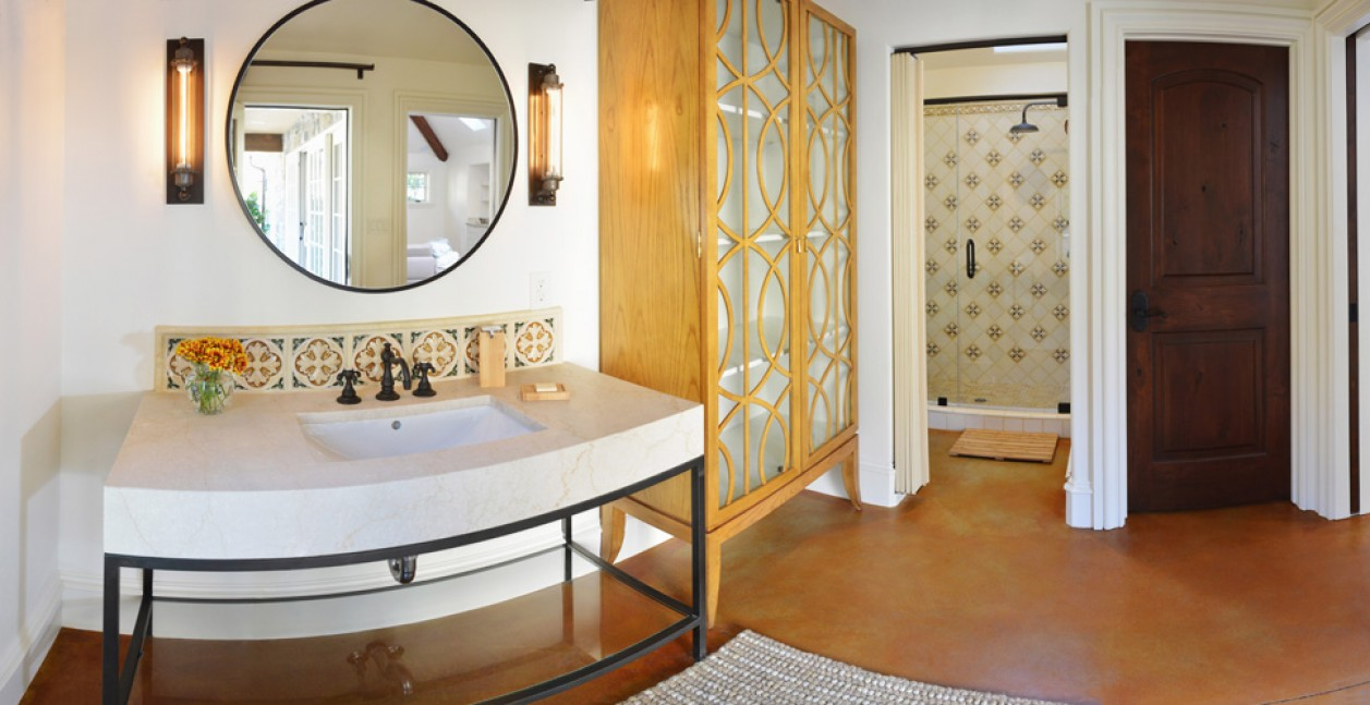 Full bath in Diablo, CA pool house addition