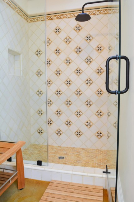 Enclosed shower in Diablo, CA pool house addition