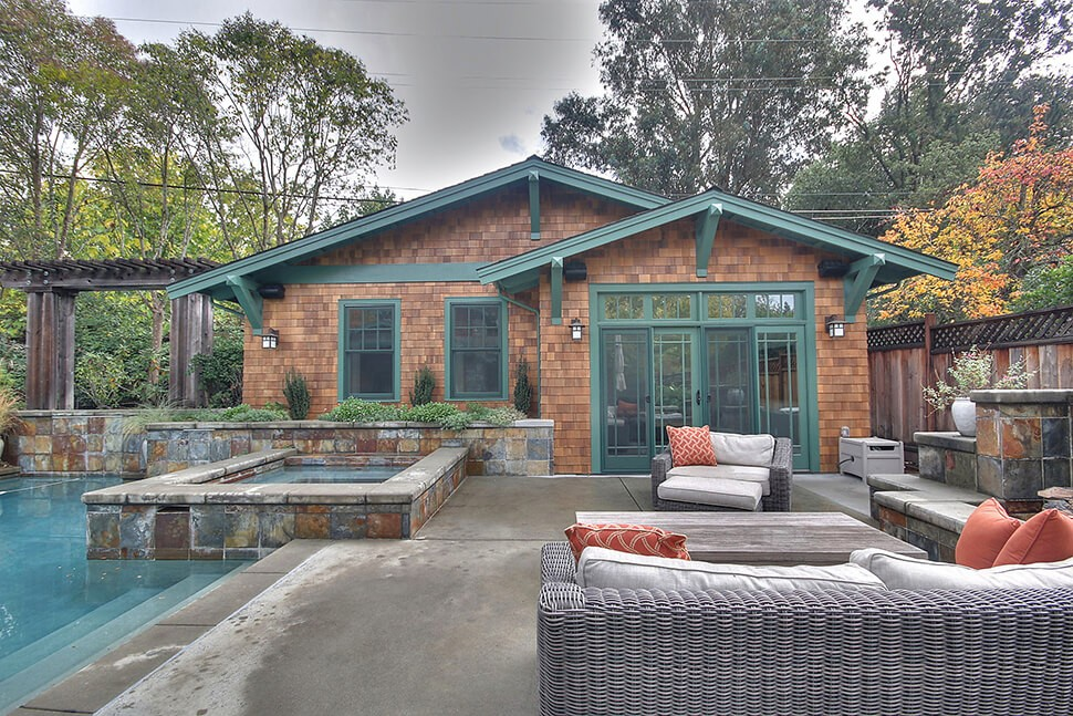 New pool house and game room in Diablo, CA addition