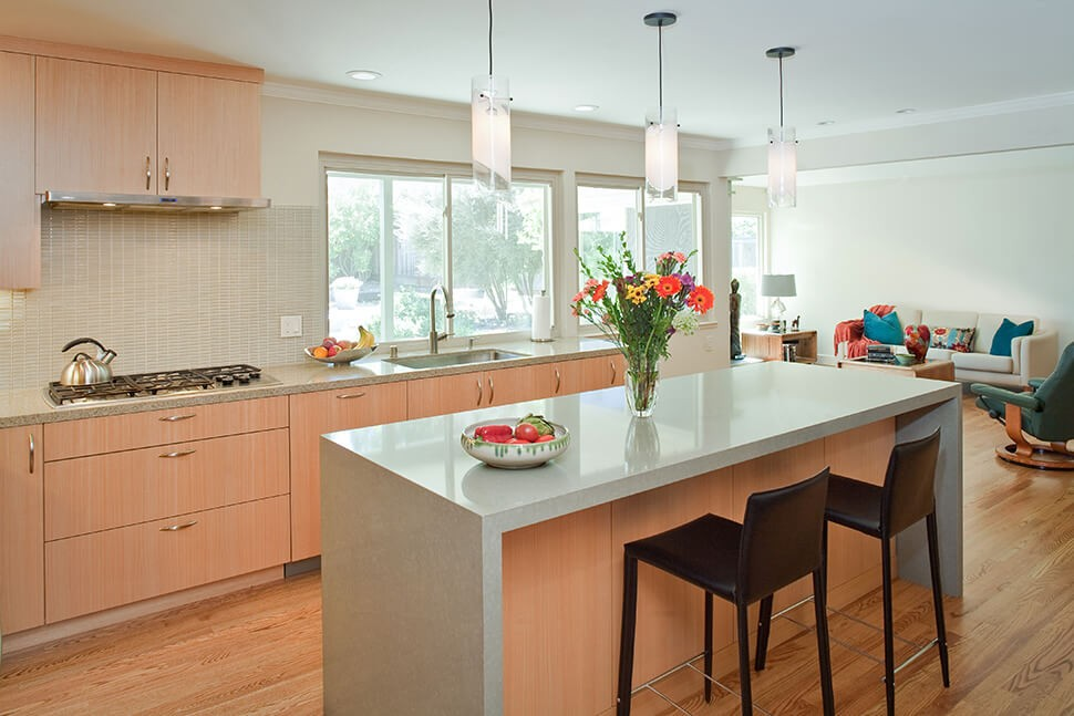Sleek, modern kitchen in Moraga, CA remodel