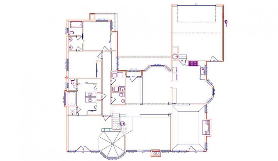 Existing First Floor Plan in San Ramon, CA whole house remodel