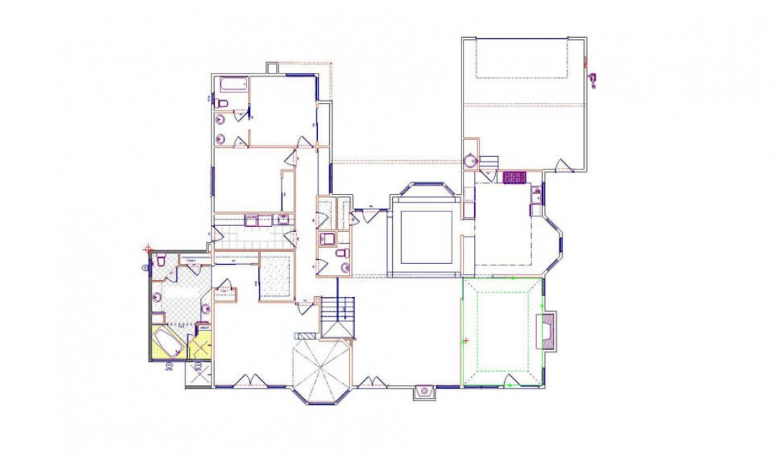 New First Floor Conceptual Floor Plan in San Ramon, CA whole house remodel
