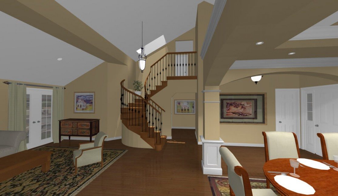 3D rendering in San Ramon, CA whole house remodel