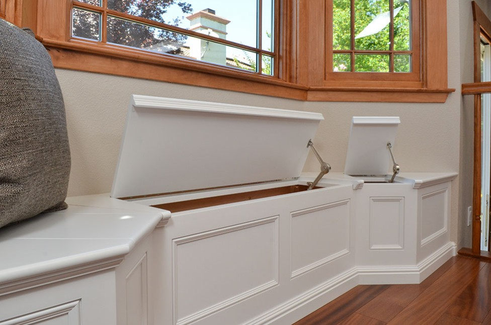 Custom bench seating in San Ramon, CA Galley Kitchen Remodel
