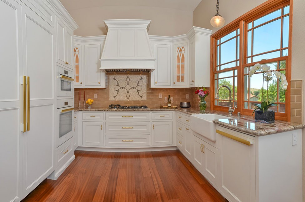 Mirage Sapele Exotic Hardwood in San Ramon, CA Galley Kitchen Remodel