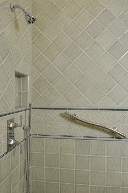 Glass Enclosed Shower with Grab Bars in Walnut Creek, CA master bath remodel