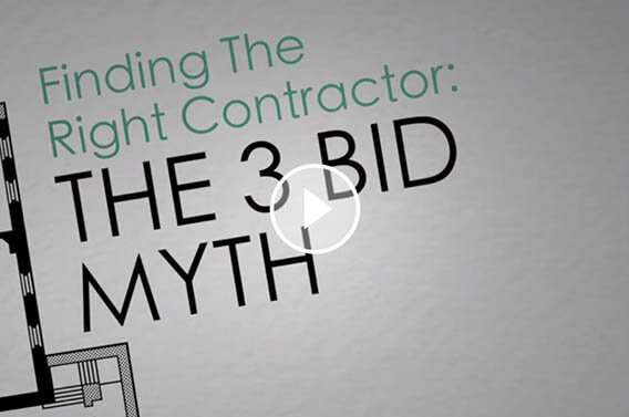 Find the Right Contractor: The 3 Bid Myth