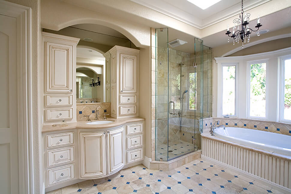 Traditional master bath remodel in alamo gayler design Traditional master bathroom design